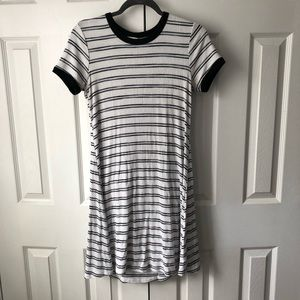 White and Blue Stripped Dress